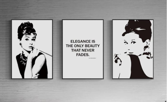 Audrey Hepburn canvas art
