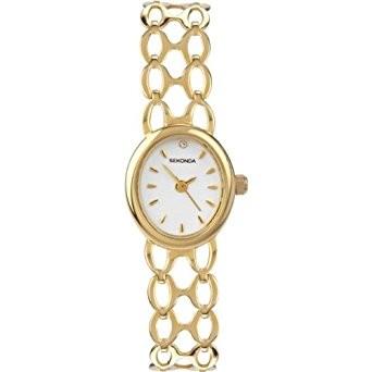 Oval Gold-Tone Bracelet Watch