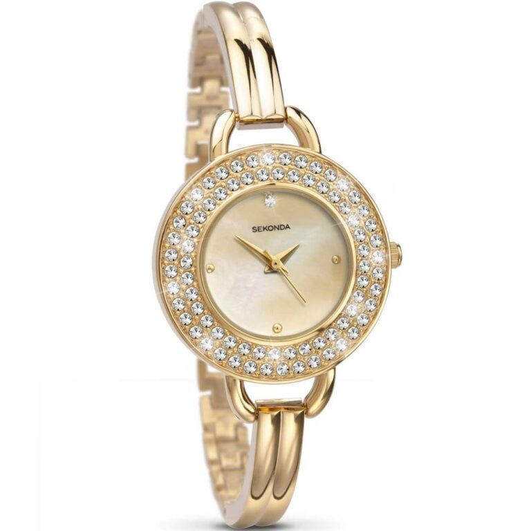 Timepiece with Mother of Pearl Dial